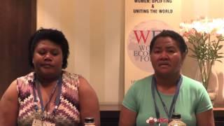 Delegation of Fiji women