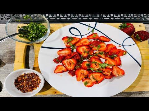 বিদেশী ফলের দেশি সাধ   Mouthwatering StrawberryVorta   স্ট্রবেরি ভর্তা/মাখা 🍓