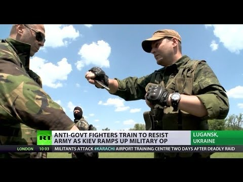 'It's not becoming a war, it IS a war': RT visits E.Ukraine anti-govt fighter training camp