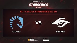 Team Liquid vs Team Secret, Game 2, SL i-League StarSeries Season 3