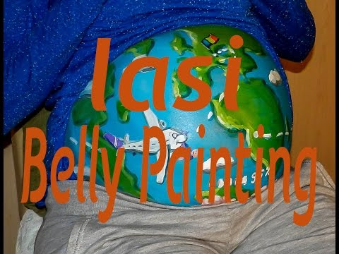 Pregnant Belly Painting Timelapse