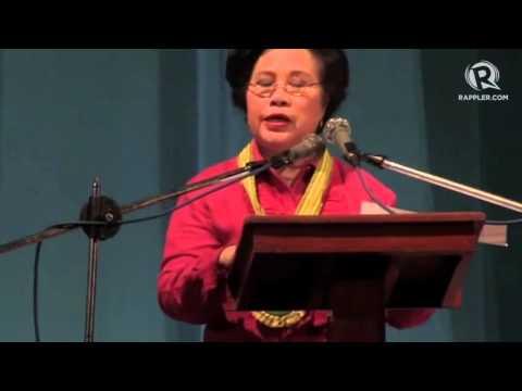 WATCH: Miriam Defensor-Santiago's full speech in an Ilocos Norte youth forum