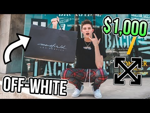 Shopping for Exclusive Off White! (Streetwear/Sneakers) (видео)