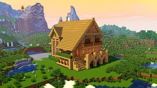 MINECRAFT: How to build a large wooden mansion tutorial