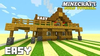 Minecraft: How To Build A Small Survival House Tutorial (survival cottage ) (Cute House) 2016