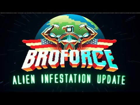 Aliens y otros peligros en el nuevo tráiler de Broforce