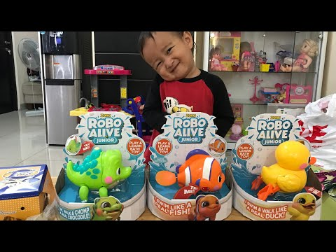 Robo Alive Junior ZURU | Learn about Animals FISH DUCK and CROCODILE | Belajar itu Menyenangkan