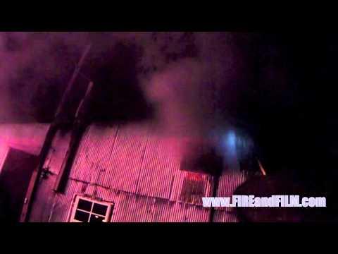 Helmet Cam video: Garage Fire - Ringtown, PA - 8/1/2013