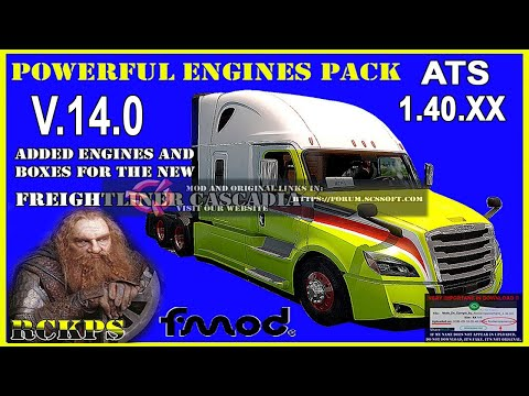Pack Powerful engines + gearboxes v12.8 for ATS 1.39.x