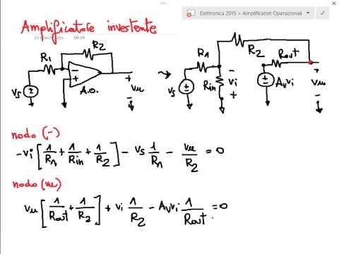 Amplificatori operazionali - principio di funzionamento - Lezione - Elettronica 2015