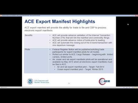 NEI Webinar | June 5, 2014 – Exports in ACE