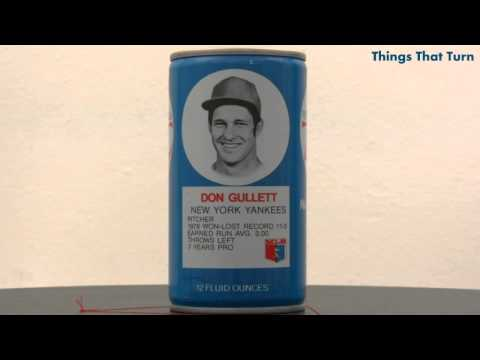 don gullett - This is a RC Cola can rotating slowly. This can features Don Gullett and was made in 1977.