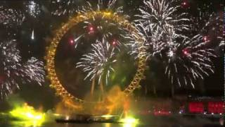 London Fireworks 2012 New Year Eve Live HD