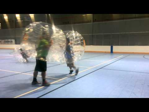The Guys at the Iceoplex Product Testing Bubble Ball