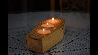 Making Wooden Candle Holder | Woodworking Project