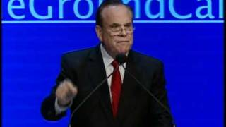 CA StateTreasurer Bill Lockyer speaks to the delgates of the 2012 CA Democratic Convention on February 11, 2012.