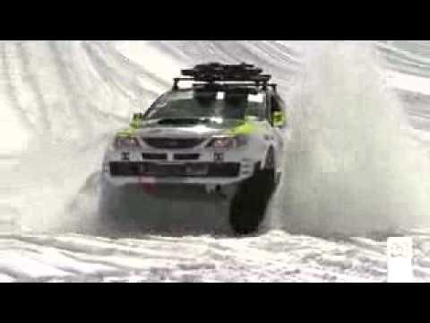 Subaru WRX STI Кен Блок король дрифта зимняя версия