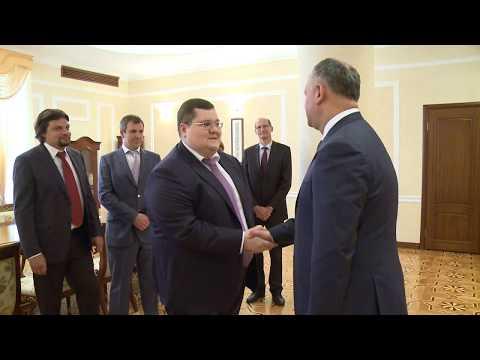 """Igor Dodon a avut o întrevedere cu domnul Igor Ceaika, co-președintele Asociației ,,Delovaia Rossia"""""""