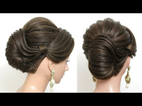 New hairstyle - New French Roll Hairstyle For Wedding Or Party.  Hair Tutorial