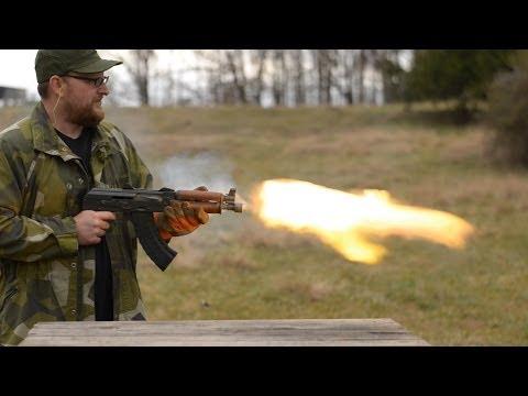 In Memory Of Kalashnikov: 700 Round AK Burn