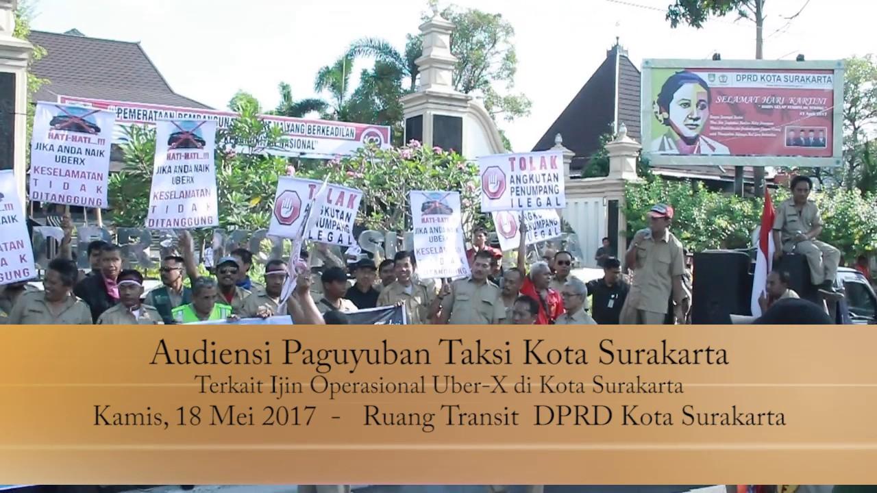 Jumat 18 Mei 2017 Demo Paguyuban Taksi