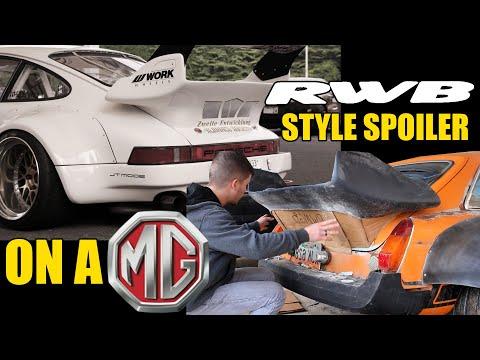 RWB PORSCHE STYLE SPOILER ON A MGB GT!