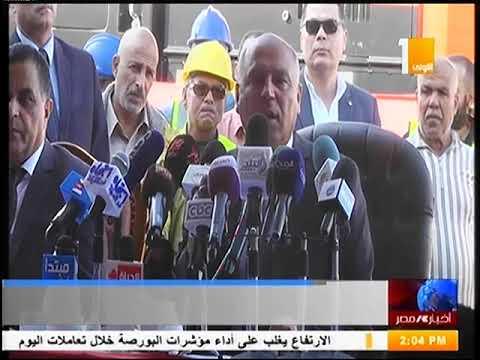 وزير النقل يستقبل أول 10 جرارات سكة حديد جديدة الى ميناء الاسكندرية