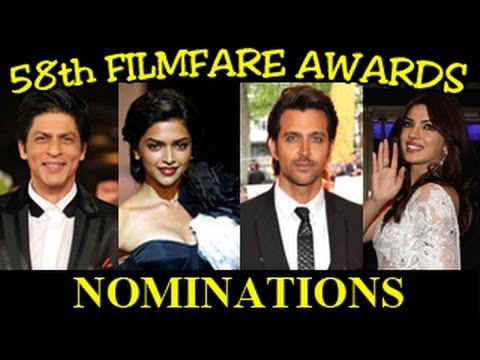 58th Filmfare Awards 2013 NOMINATIONS LIST