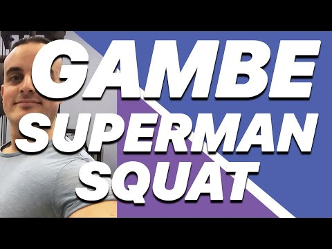 Esercizi Gambe: Superman Squat