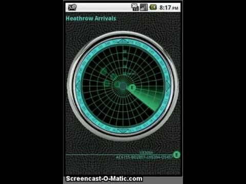 Video of Heathrow Radar