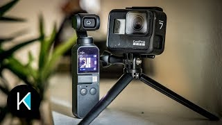 DJI Osmo Pocket VS. GoPro HERO 7 Black - VIDEO COMPARISON! (GIMBAL or HyperSmooth?)
