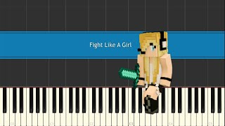 Minecraft Song /Psycho Girl 3 - Fight Like A Girl • Piano Version • Synthesia