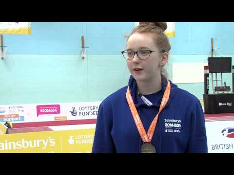 Kate Daykin thrilled with gold at Sainsbury's 2014 School Games