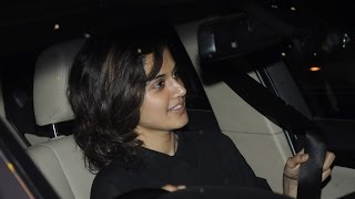 CUTE Taapsee Pannu Spotted At Juhu