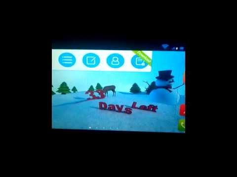 Video of Christmas 3D Snowman LWP HD