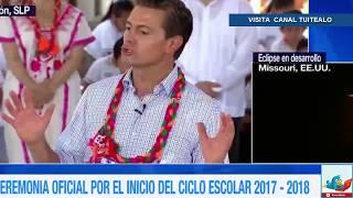 El presidente Enrique Peña Nieto inaugura el ciclo escolar 2017-2018 en Aquismón, San Luis Potosí.Visítanos también en:✩ FaceBook - http://bit.ly/2jZ5N6Z