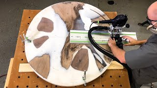 Video Round Epoxy Table Build — How to Woodworking — How to Make a Round Table MP3, 3GP, MP4, WEBM, AVI, FLV Juli 2019