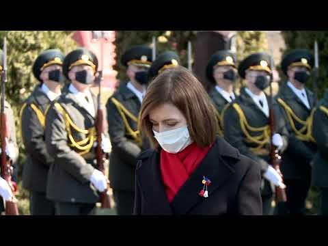 Президент Майя Санду почтила память героев, павших в вооруженном конфликте на Днестре