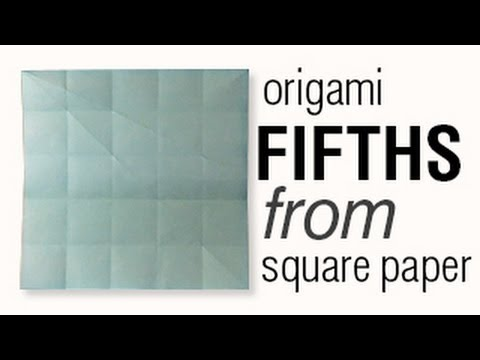 Tip 42-01 - How To Fold Square Paper into Fifths