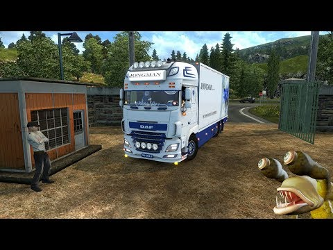 DAF XF 116 Flower Shuttle + Trailer – 1.31.x