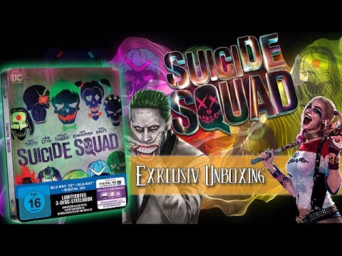 Suicide Squad - 3D Extended Cut Steelbook Blu-ray unboxing