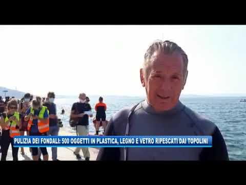 14/09/2020 - PULIZIA DEI FONDALI: 500 OGGETTI DI PLASTICA RIPESCATI DAL MARE AI TOPOLINI
