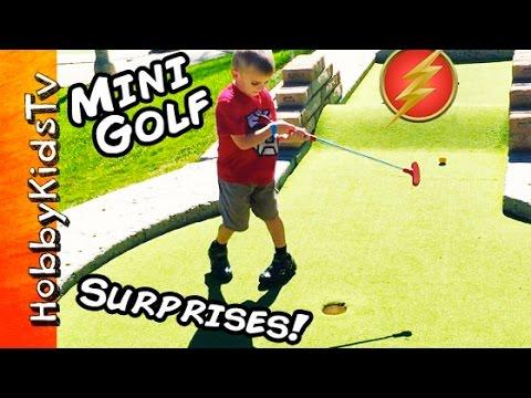 Miniature Golf Surprises! Adventure TOY Hunt HobbyPig + HobbyFrog, HobbyBear Family Fun HobbyKidsTV