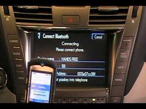 Pairing Lexus/Bluetooth phone