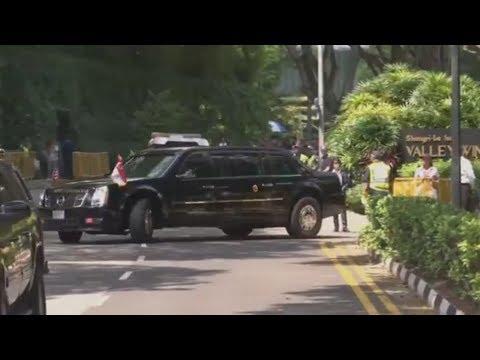 IM CADILLAC DURCH SINGAPUR: Donald Trump bereitet sic ...