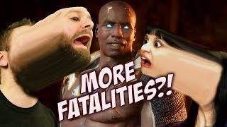 MORTAL KOMBAT 11   MORE NEW FATALITIES! (GERAS, RAIDEN, KANO, SONYA, CASSIE CAGE)