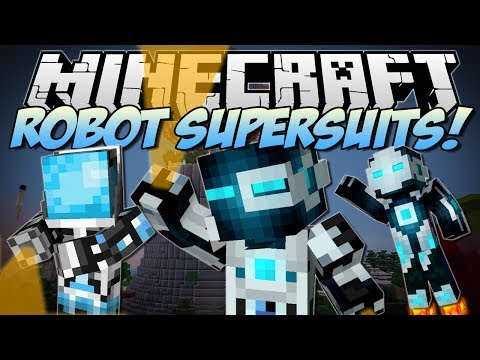 Minecraft | ROBOT SUPERSUITS! (Guns, Gadgets, Jetpacks & More!) | Mod Showcase