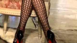 Schwarze Net-Stockings Mit Lochmuster - Baci Lingerie