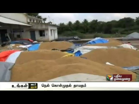 Delay-in-procurement-of-paddy-by-officials-causes-hardship-to-farmers-at-Pattukottai