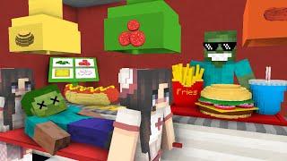 Video Monster School: WORK AT BURGER & HOT DOG PLACE! - Minecraft Animation MP3, 3GP, MP4, WEBM, AVI, FLV Agustus 2018